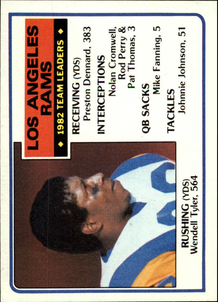 1983 Topps #86 Los Angeles Rams TL