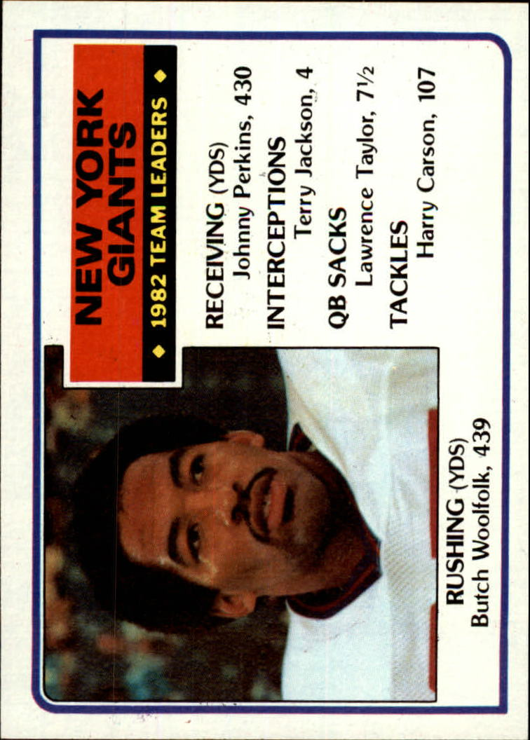 1983 Topps #120 New York Giants TL
