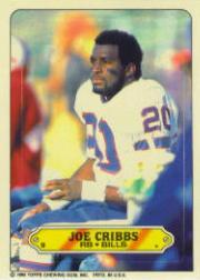 1983 Topps Sticker Inserts #9 Joe Cribbs