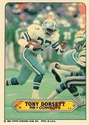 1983 Topps Sticker Inserts #11 Tony Dorsett