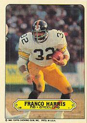 1983 Topps Sticker Inserts #15 Franco Harris