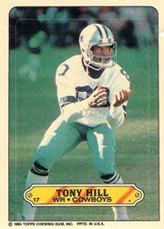1983 Topps Sticker Inserts #17 Tony Hill
