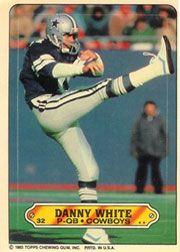 1983 Topps Sticker Inserts #32 Danny White