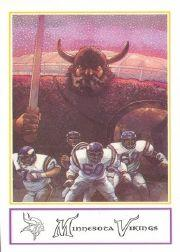 1983 Vikings Police #1 Checklist Card