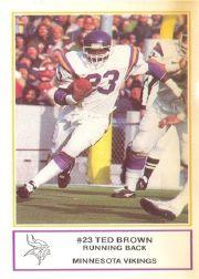 1983 Vikings Police #3 Ted Brown