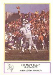 1983 Vikings Police #7 Matt Blair