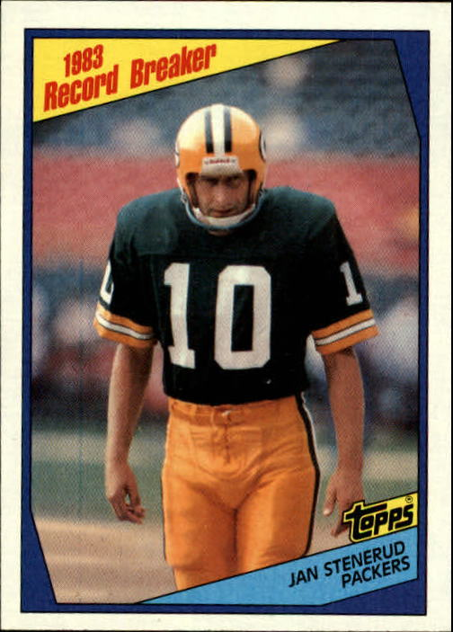 1984 Topps #6 Jan Stenerud RB/338th Career FG