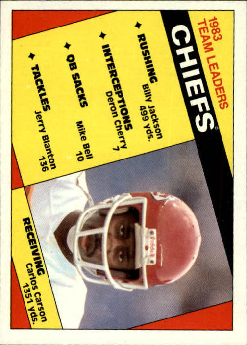 1984 Topps #84 Kansas City Chiefs TL