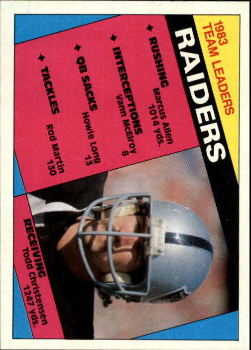 1984 Topps #97 Los Angeles Raiders TL