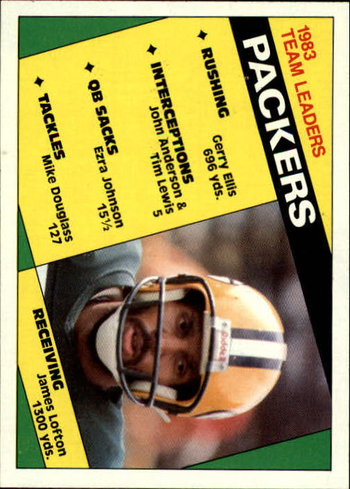 1984 Topps #263 Packers TL/J.Lofton