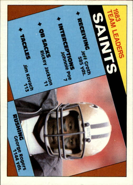 1984 Topps #299 New Orleans Saints TL
