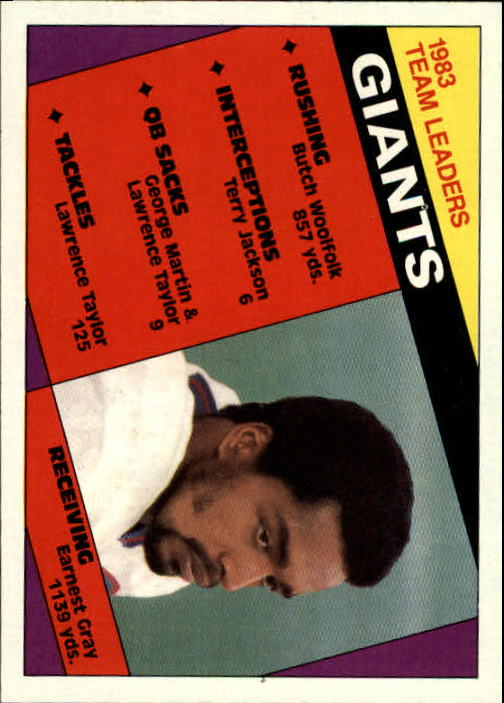 1984 Topps #310 New York Giants TL
