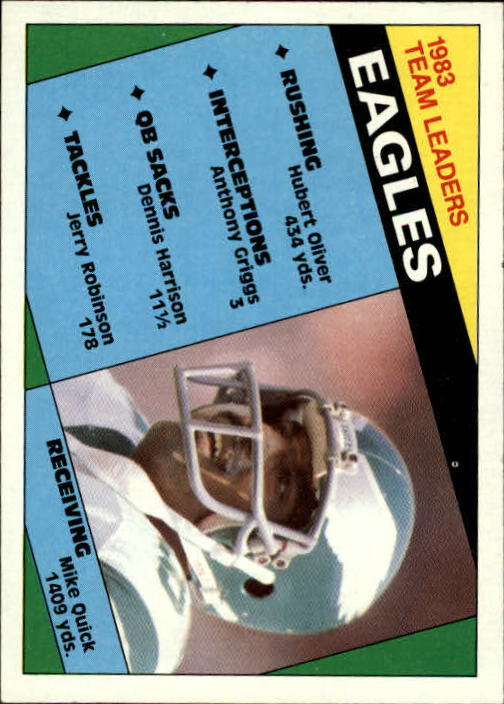 1984 Topps #325 Eagles TL/M.Quick