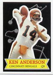 1984 Topps Glossy Send-In #9 Ken Anderson