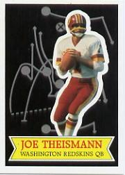 1984 Topps Glossy Send-In #12 Joe Theismann