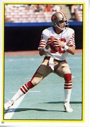 1984 Topps Stickers #60 Joe Montana