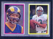 1984 Topps Stickers #132 Nolan Cromwell/ 144 Dan Marino/All-Pro FOIL