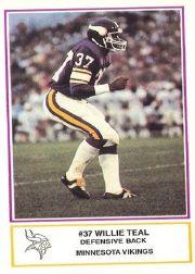 1984 Vikings Police #14 Willie Teal