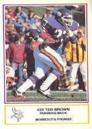 1984 Vikings Police #15 Ted Brown
