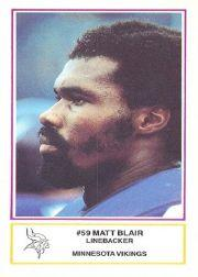 1984 Vikings Police #17 Matt Blair