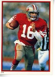 1985 Topps Coming Soon Stickers #210 Joe Montana