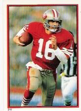 1985 Topps Stickers #210 Joe Montana