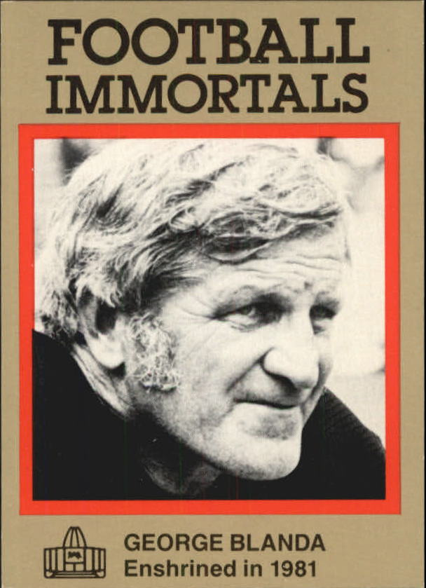 1985-88 Football Immortals #17 George Blanda