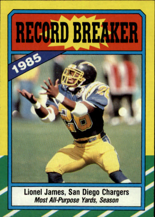 1986 Topps #3 Lionel James RB