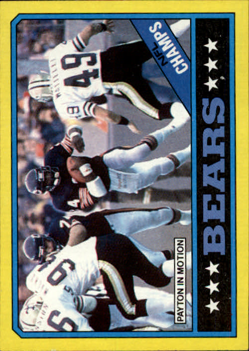 1986 Topps #9 Bears TL/(Walter Payton in Motion)