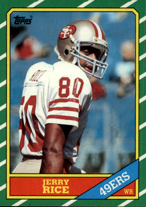 1986 Topps #161 Jerry Rice RC