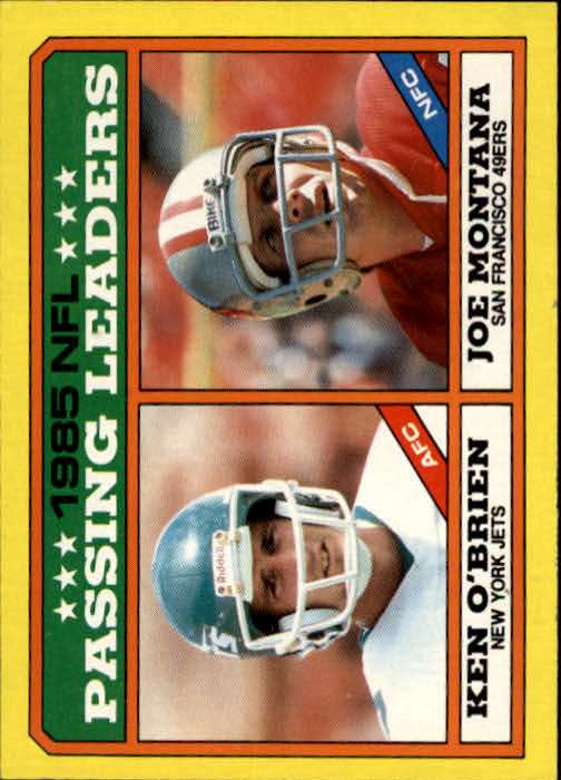 1986 Topps #225 Joe Montana/K.O'Brien LL