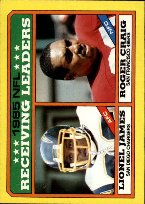 1986 Topps #226 Receiving Leaders