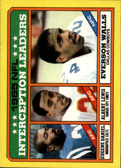 1986 Topps #229 Interception Leaders
