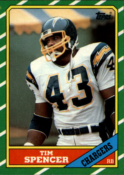 1986 Topps #234 Tim Spencer RC