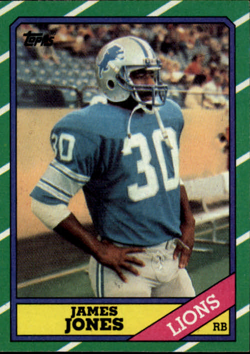 1986 Topps #245 James Jones FB