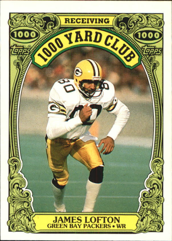 1986 Topps 1000 Yard Club #15 James Lofton