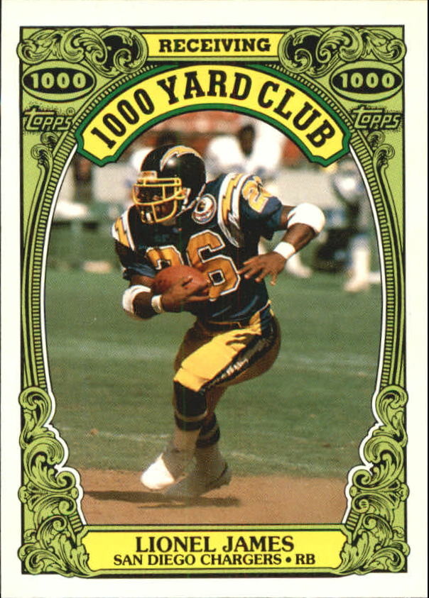 1986 Topps 1000 Yard Club #24 Lionel James