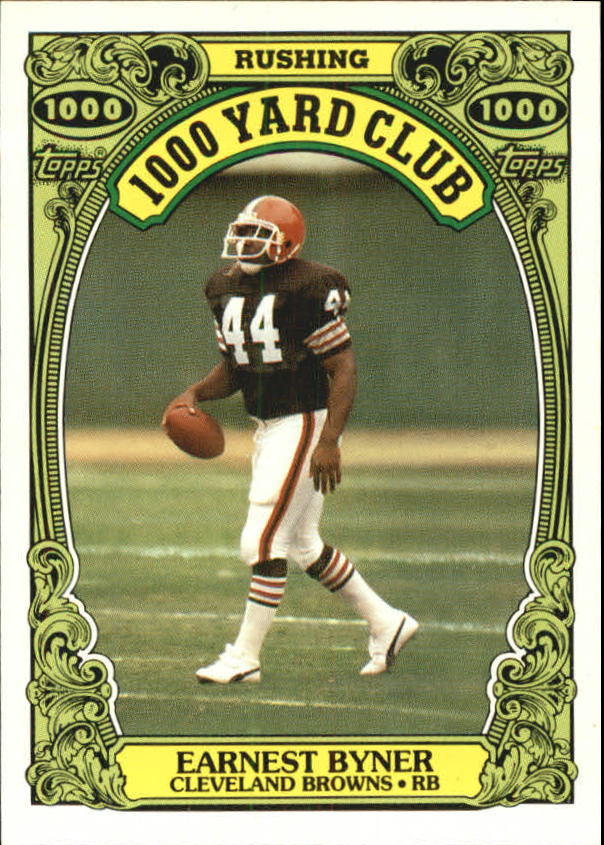 1986 Topps 1000 Yard Club #26 Earnest Byner
