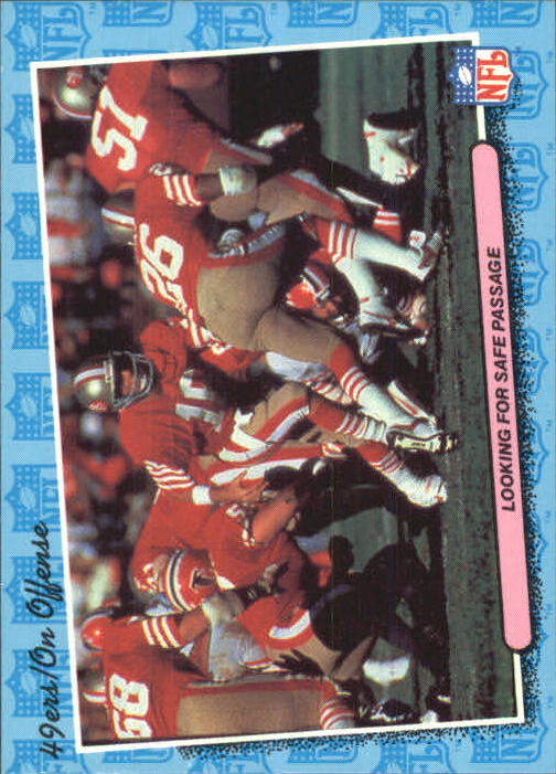 1986 Fleer Team Action #73 San Francisco 49ers