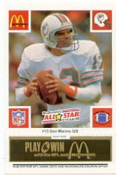 1986 McDonald's All-Stars Green Tab #13 Dan Marino