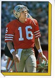 1986 Topps Stickers #61 Joe Montana