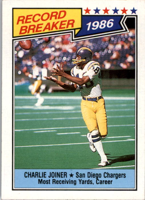 1987 Topps #4 Charlie Joiner RB/Most Receiving/Yards: Career
