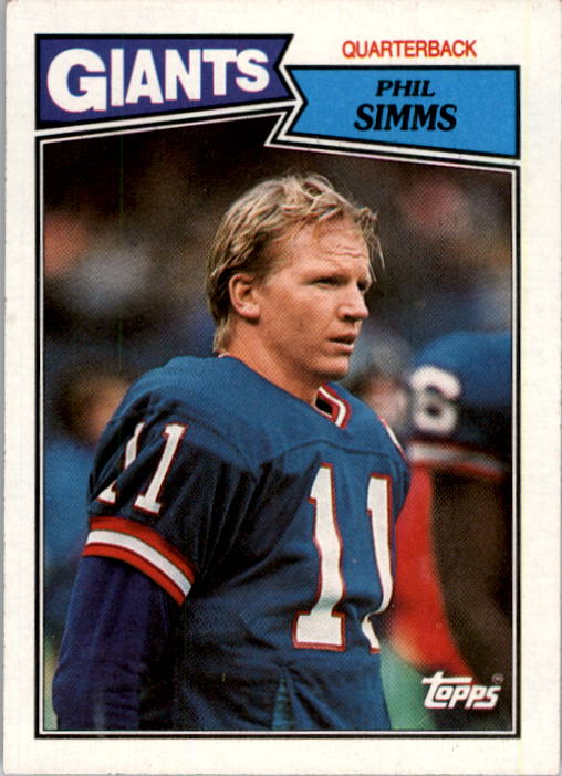 1987 Topps #10 Phil Simms
