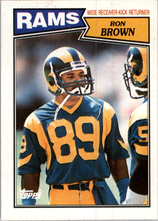 1987 Topps #148 Ron Brown