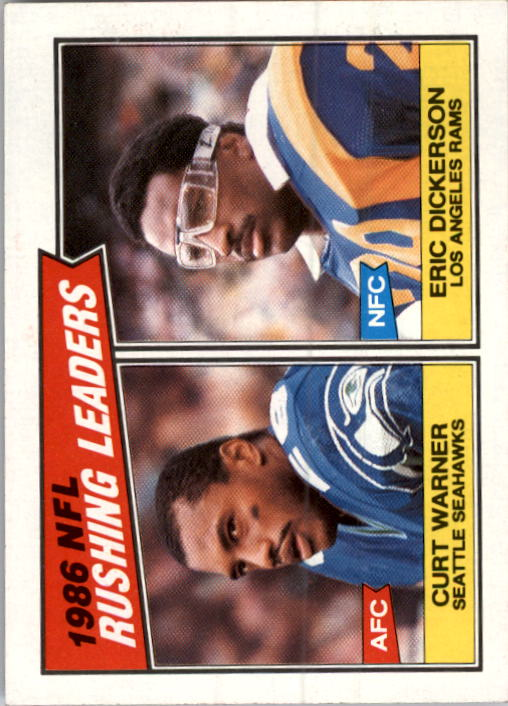 1987 Topps #229 Rushing Leaders/Eric Dickerson/Curt Warner