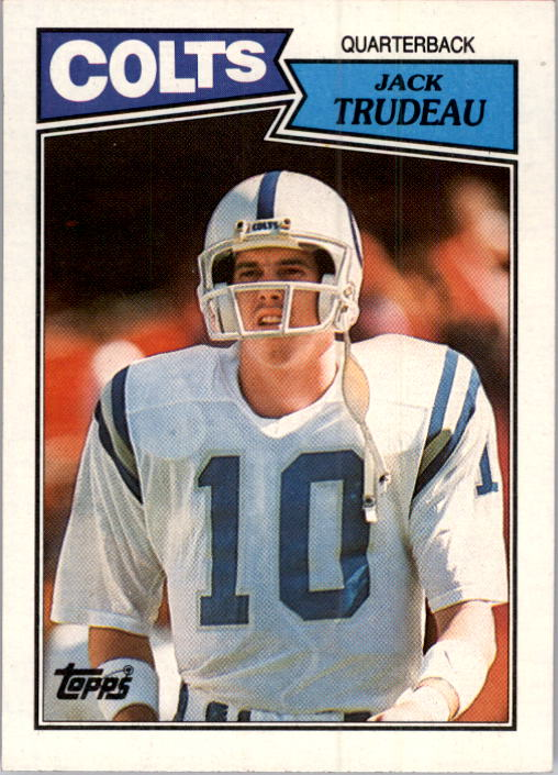 1987 Topps #373 Jack Trudeau RC