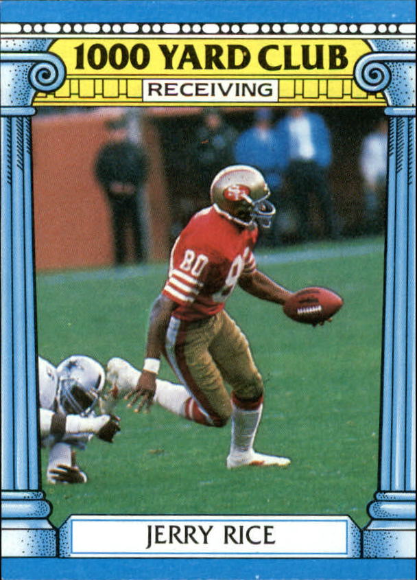 1987 Topps 1000 Yard Club #2 Jerry Rice