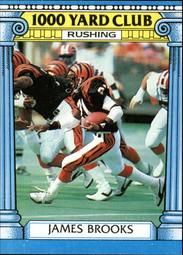 1987 Topps 1000 Yard Club #17 James Brooks