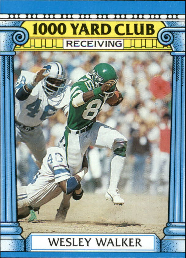 1987 Topps 1000 Yard Club #22 Wesley Walker