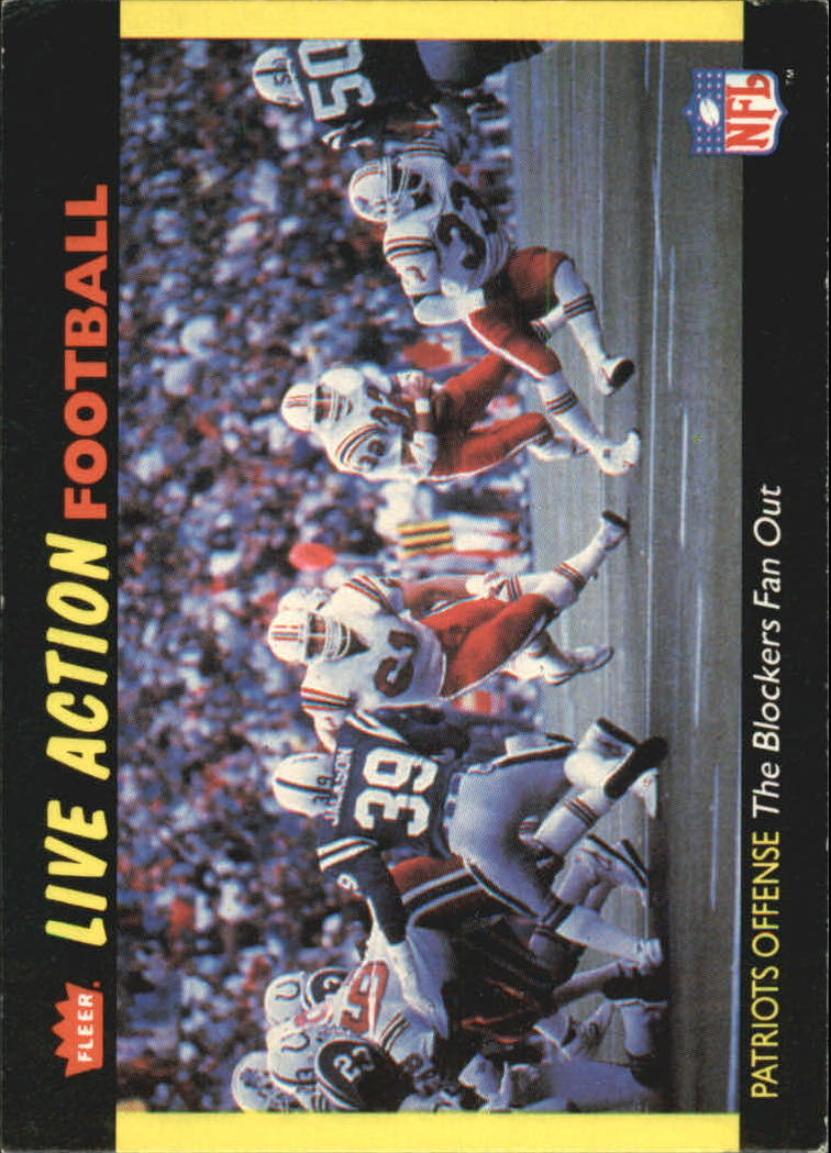 1987 Fleer Team Action #33 New England Patriots
